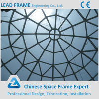 Prefab steel frame structure glass roof dome for roofing cover