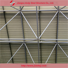 Pre engineered prefab steel frame roof truss construction