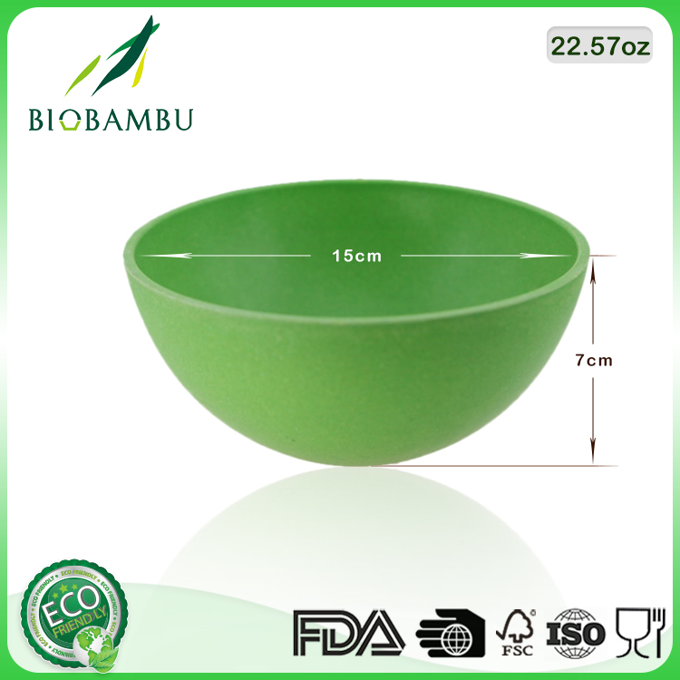 Best selling items High Quality Eco Bamboo Fiber Salad Bowls Green