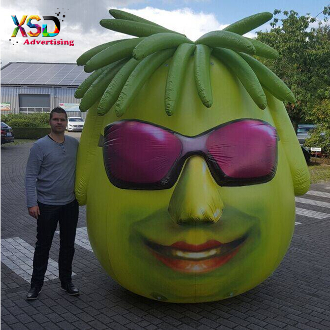 inflatable green man with glasses / inflatable rock man / custom inflatable art model for display