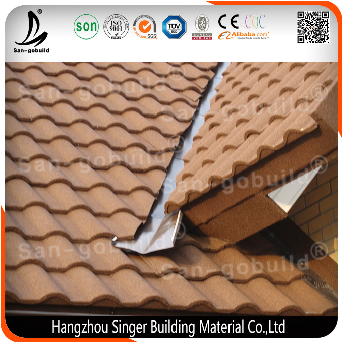 Zinc Alloy Material Classic French Roof Tile, Slate Roofing Shingles in Africa