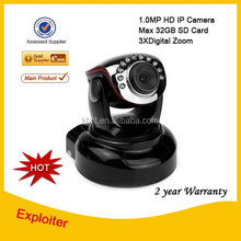 CMOS Security CCTV H.264 720P 32GB TF Card IP Camera with 3X Digital Zoom