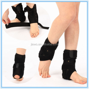 Private logo printed orthopedic foot splint lace up ankle immobilizer , ankle brace