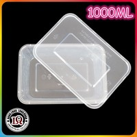 1000ML PP plastic injection molded square packaging box