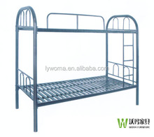 Two person use double military metal bed frame without mattress
