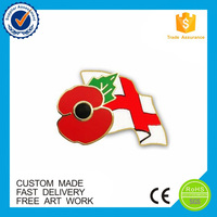 Metal Material and Nautical Style poppy lapel pins