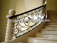 2015 modern outdoor wrought iron stair handrail