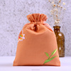 Eco Embroidered Canvas Drawstring Bags for Crafts Customized Cotton Pouch Wholesale