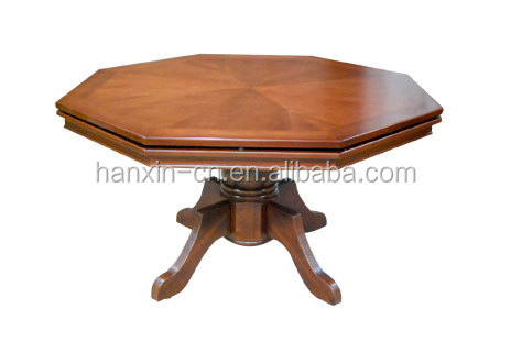 Octagon Solid Wood Dining Poker Table