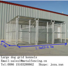 1.5x3.0x1.8mx3 runs dog house steel structure dog runs 4.5x3.0x1.8m large dog kennels