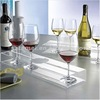 stylish single acrylic wine bottle rack with glass holder