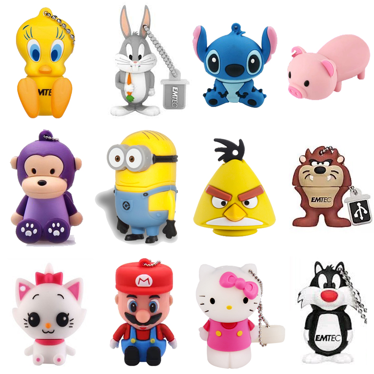 Custom pen drive usb3 stick mini cartoon character usb flash drive for 1g 2g 4g 8g 16g 32g 64g