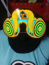 el glowing mask,glowing feather party mask,el wire craft