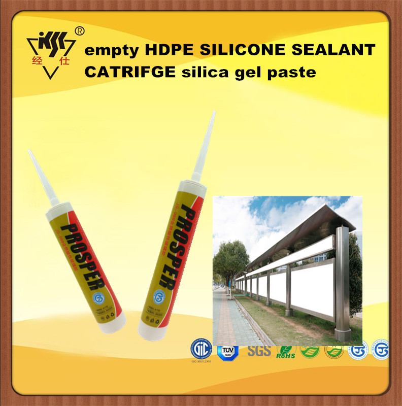 empty HDPE SILICONE SEALANT CARTRIDGE silica gel paste