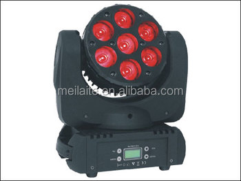 7x10w led beam / 7 led mini moving head