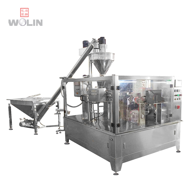 Full Automatic Weight filler 6 8 rotary pouch machine for Premade standup ziplock doypack line for spices, beans, nuts, candies