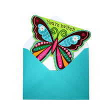 butterfly wedding invitation cards with envelope set