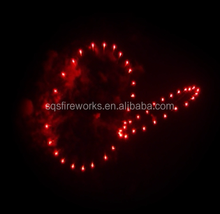 Hot sale display show red ring 4 inch shells 1.3g fireworks bomb