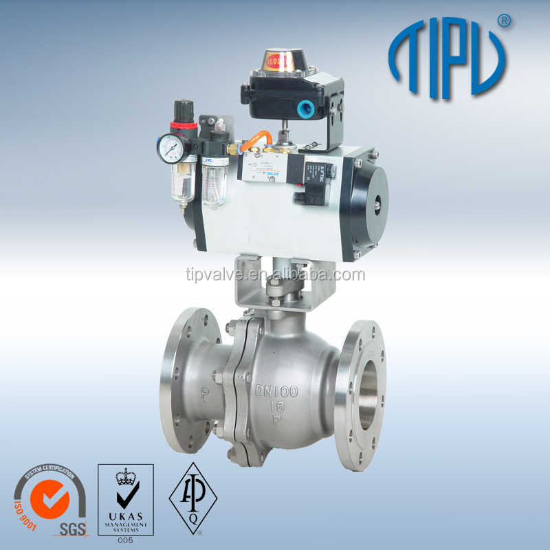 Motorized Flange Floating Stainless Steel 304 Ball Valve