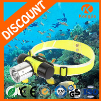 ABS Rechargeable Diving Light 10W XML T6 Led Bulb Ultra Bright Head Torch Waterproof