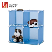 Cheap 4 cubes plastic storage wardrobe cabinets closet