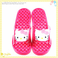 Silicon Rubber anti-skid bathroom health massage slippers for women