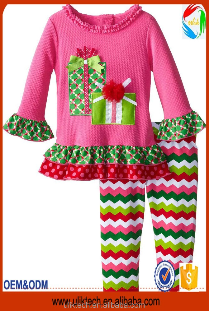 childrens autumn clothing sets wholesale ruffle pants baby girls christmas outfits boutique clothing