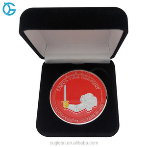 Factory price custom 3D metal novelty challenge coin with box
