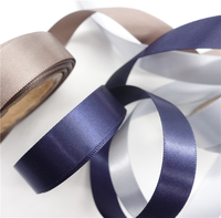 Custom Poly Woven 15mm Wide Soft Fabric Double Sided Satin Ribbon Roll