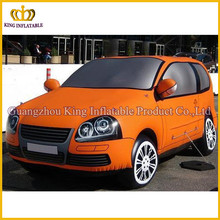 Promotional giant orange inflatable car for sale,inflatable car model