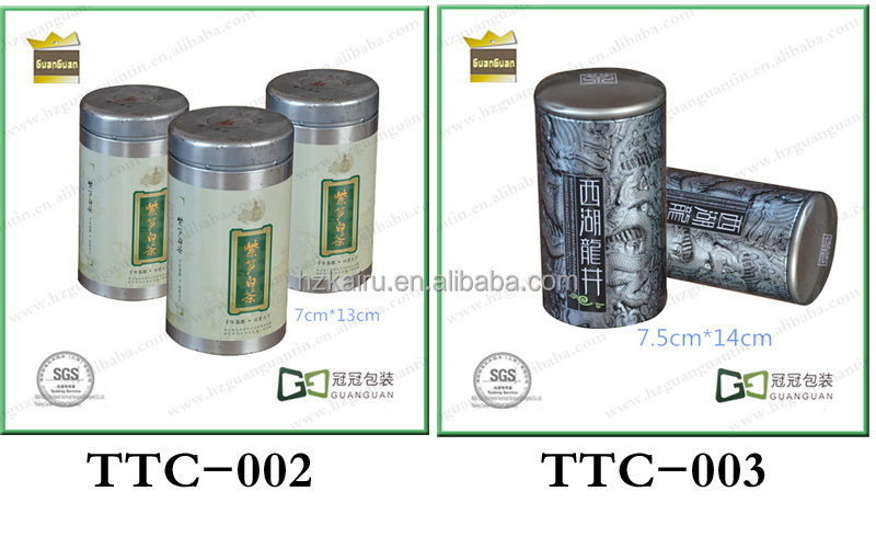 Empty Round Tinplate Packing tea tin can wholesale