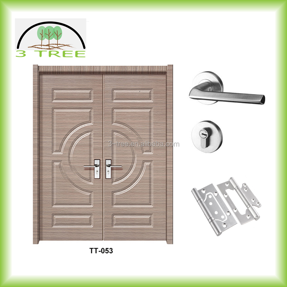 Exterior timber double door