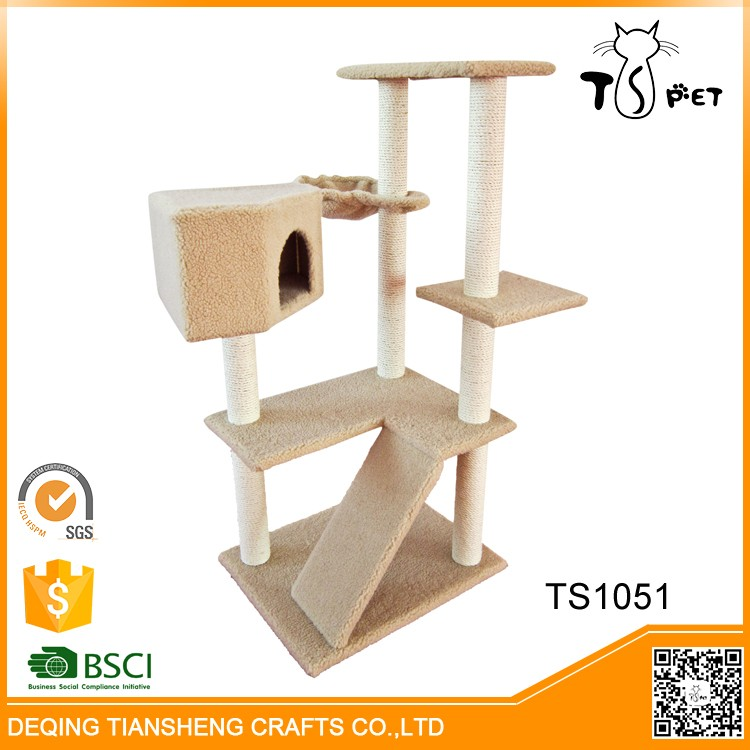 2016 New Sisal And Soft Plush Cat Tree Houses cat house cat toy