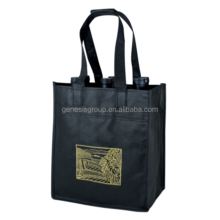 Wholesale Customized Reusable Eco Shopping 6 Bottle Wine Tote Bag