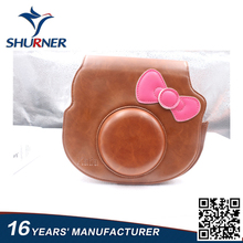 China manufacturer mini leather camera case bag