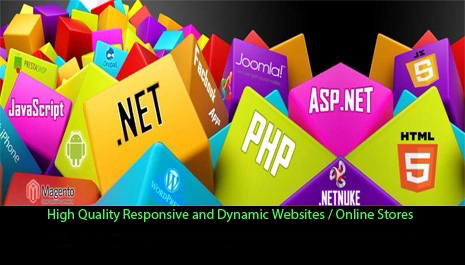 RP8 High Quality Responsive and Dynamic Website / Online Store