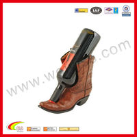 Western Cowboy Leather Wine Bottle Holder For Promotion Gift 2013
