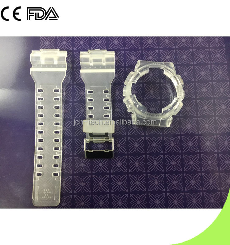 GA 100 Jelly PU Rubber Watch Bands And Bezel Sets