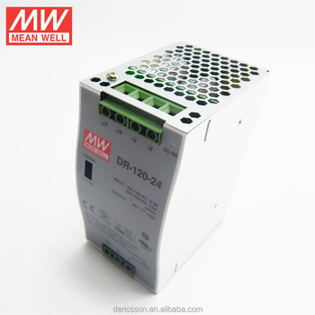 MEAN WELL Din Rail Power Supply 24V 120W with UL CE CB approved DR-120-24