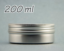 Round Tin Aluminium Can Empty Cosmetic Pots Jar Containers200ml