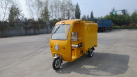 electric cargo delivery tricycle with sunshade roof