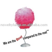 NEW PRODUCT 18 INCH FURRY METAL BALL LAMP