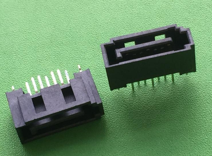 PCB application straight dip SATA sockets SATA data connector