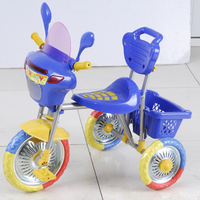 Zhejiang Pinghu Cheap toy plastic baby tricycle for kid ride on with three wheels