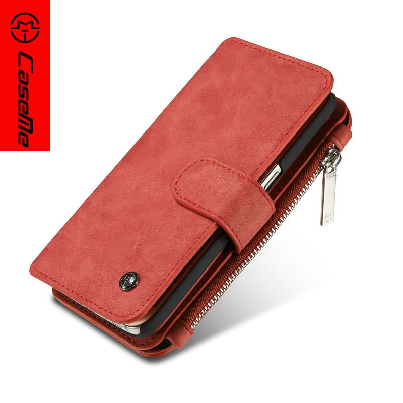 For Samsung galaxy note 7 wallet leather detachable business card magnetic stand case
