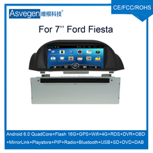 For 7'' Ford Fiesta car dvd gps android car dvd player support playstore,4G,wifi