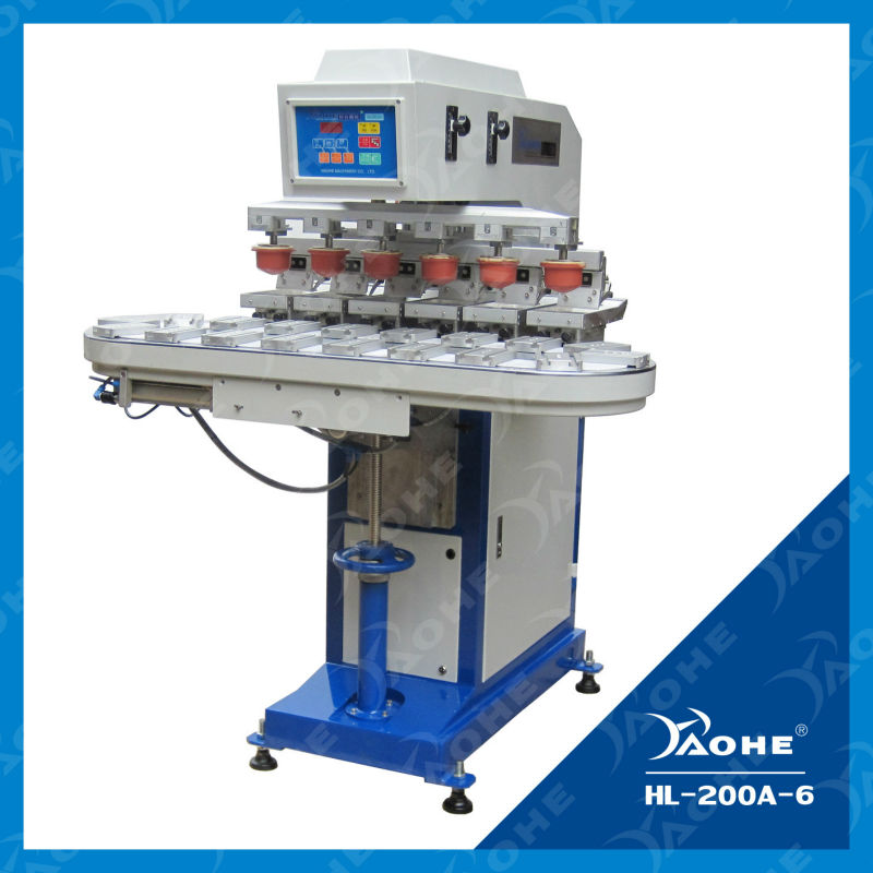 pneumatic six colours export pad printer