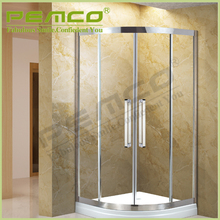 custom Mordern Hotel easy assemble sliding stainless steel glass circular shower enclosure