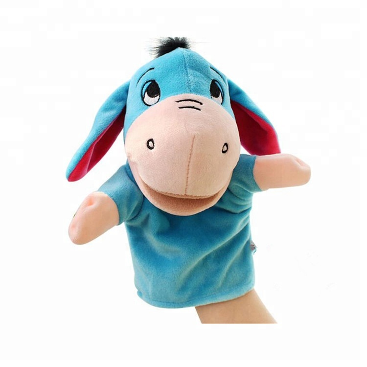 Kids Play Game Mouth moving Plush Donkey/Tiger/<strong>Rabbit</strong> Toy Hand Puppet custom