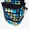 2016 colorful dotted design 600D polyester craft tote bag for crafter